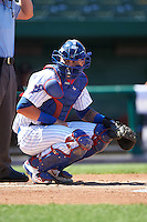 South Bend Cubs catcher Tyler Alamo (22) during the second game of a doubleheader against the Peoria Chiefs on July 25, 2016 at Four Winds Field in South Bend, Indiana.  South Bend defeated Peoria 9-2.  (Mike Janes/Four Seam Images)