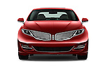 Car photography straight front view of a 2016 Lincoln MKZ - 4 Door Sedan Front View