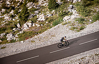 Christopher Juul-Jensen (DEN/Mitchelton-Scott) up the finish climb & the highest peak of the 2020 #TdF: the Col de la Loze (HC/2304m/21,5km @7,8%)<br /> <br /> Stage 17 from Grenoble to Méribel - Col de la Loze (170km)<br /> <br /> 107th Tour de France 2020 (2.UWT)<br /> (the 'postponed edition' held in september)<br /> <br /> ©kramon