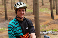 Rowan Sorrell ;  Swinley Forest ,  opening of the new trails  , May  2013.      pic copyright Steve Behr / Stockfile