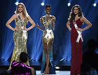 ATLANTA, GA - DECEMBER 8: 2019 MISS UNIVERSE: The final three contestants, Miss Puerto Rico, Madison Anderson, Miss South Africa, Zozibini Tunzi and Miss Mexico appear on the 2019 MISS UNIVERSE competition airing LIVE onSunday, Dec. 8(7:00-10:00 PM ET live/PT tape-delayed) on FOX. (Photo by Frank Micelotta/FOX/PictureGroup)