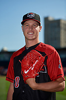 Erie SeaWolves pitcher Matt Manning (30) poses for a photo before an Eastern League game against the Altoona Curve on June 3, 2019 at UPMC Park in Erie, Pennsylvania.  Altoona defeated Erie 9-8.  (Mike Janes/Four Seam Images)