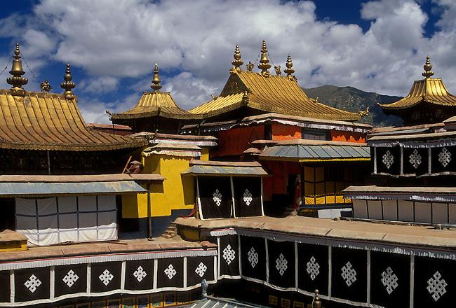 Funerary chapels of Dalai Lamas, Red Palace at Potala Palace, Lhasa, Tibet, Tibetan Autonomous Region, China, Asia