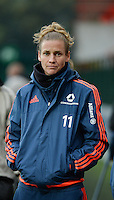 20151007 - LIEGE , BELGIUM : Frankfurt's Simone Laudehr pictured during the female soccer match between STANDARD Femina de Liege and 1. FFC Frankfurt , in the 1/16 final ( round of 32 ) first leg in the UEFA Women's Champions League 2015 in stade Maurice Dufrasne - Sclessin in Liege. Wednesday 7 October 2015 . PHOTO DAVID CATRY