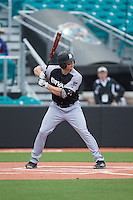 John Mullen (42) of the Bryant Bulldogs at bat against the Coastal Carolina Chanticleers at Springs Brooks Stadium on March 13, 2015 in Charlotte, North Carolina.  The Chanticleers defeated the Bulldogs 7-2.  (Brian Westerholt/Four Seam Images)