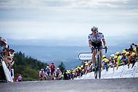 Daryl Impey (RSA/Mitchelton Scott) finishing atop La Planche des Belles Filles. <br /> <br /> Stage 6: Mulhouse to La Planche des Belles Filles (157km)<br /> 106th Tour de France 2019 (2.UWT)<br /> <br /> ©kramon