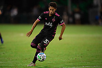 LAKE BUENA VISTA, FL - JULY 27: Shandon Hopeau #37 of the Seattle Sounders dribbles the ball during a game between Seattle Sounders FC and Los Angeles FC at ESPN Wide World of Sports on July 27, 2020 in Lake Buena Vista, Florida.
