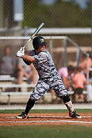 Regan Reid during the WWBA World Championship at the Roger Dean Complex on October 20, 2018 in Jupiter, Florida.  Regan Reid is a shortstop from Anderson, South Carolina who attends T.L. Hanna High School and is committed to Clemson.  (Mike Janes/Four Seam Images)