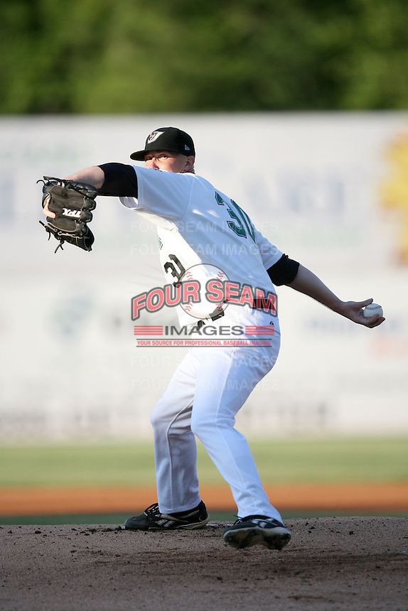 July 2, 2009: West Tennessee Diamond Jaxx pitcher Steve Bray (30) at Pringles Park in Jackson, TN. The Diamond Jaxx are the Southern League AA affiliate of the Atlanta Braves. Photo by: Chris Proctor/Four Seam Images