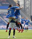 15.05.2021 Rangers v Aberdeen: James Tavernier and Ianis Hagi celebrate