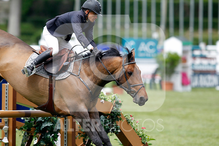 France´s jockey Olivier Robert and Belle Rock horse during 102 International Jumping Championship Grand Prix of Madrid- Caser Trophy, in the Club de Campo Villa de Madrid 2012/May/21..(ALTERPHOTOS/ARNEDO)
