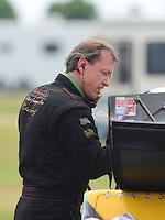 Apr. 29, 2012; Baytown, TX, USA: NHRA funny car driver Bob Bode during the Spring Nationals at Royal Purple Raceway. Mandatory Credit: Mark J. Rebilas-