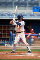 Charlotte Stone Crabs Tyler Frank (5) during a Florida State League game against the Palm Beach Cardinals on April 14, 2019 at Charlotte Sports Park in Port Charlotte, Florida.  Palm Beach defeated Charlotte 5-3.  (Mike Janes/Four Seam Images)