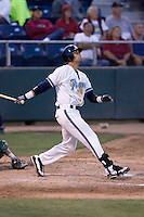August 4, 2009: Everett AquaSox's Matthew Cerione at-bat during a Northwest League game against the Boise Hawks at Everett Memorial Stadium in Everett, Washington.  Cerione finished the game 4-for-4 with two homers.
