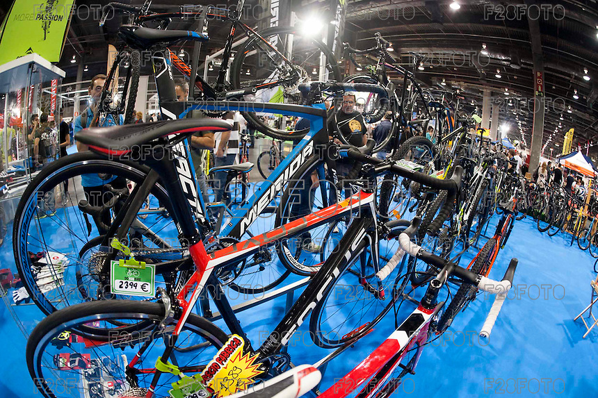 VALENCIA, SPAIN - NOVEMBER 7: Bikes during DOS RODES at Feria Valencia on November 7, 2015 in Valencia, Spain