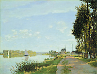 Claude Monet - The Promenade at Argenteuil (1872). Washington, National Gallery of Art.