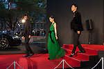 Movie, our blue moment, RikiyaImaizumi, Mai Fukagawa, Kenjiro Yamashita appears on the opening red carpet for The 30th Tokyo International Film Festival in Roppongi on October 25th, 2017, in Tokyo, Japan. The festival runs from October 25th to November 3rd at venues in Tokyo. (Photo by Michael Steinebach/AFLO)