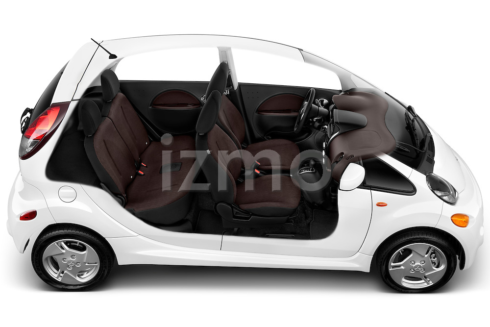 High angle top view of a 2012 Mitsubishi MiEV SE