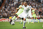 Real Madrid's Pepe and Manchester City's Fernando during Champions League 2015/2016 Semi-Finals 2nd leg match at Santiago Bernabeu in Madrid. May 04, 2016. (ALTERPHOTOS/BorjaB.Hojas)