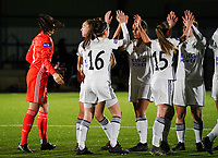 20.02.2020 OUD-HEVERLEE: OHL players give high five to each other at the start of Belgian's Women's Super League match between Oud-Heverlee Leuven vs KRC Gent Ladies on Friday 20th February 2020, Stadion Oud-Heverlee, Oud-Heverlee, BELGIUM. PHOTO: SEVIL OKTEM
