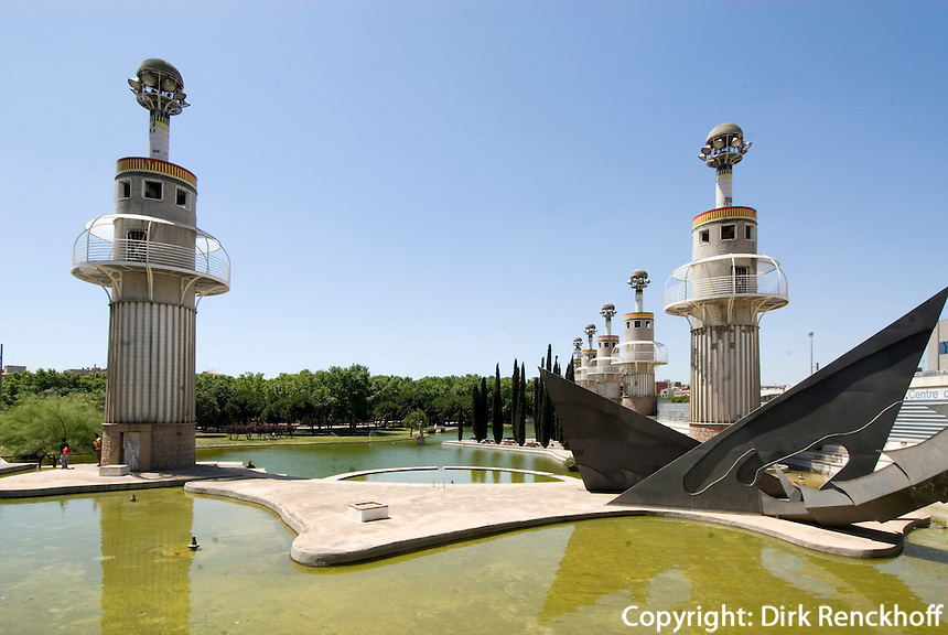 Spanien, Barcelona, Parc de l'Espanya Industrial