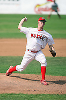 August 13th, 2007:  Logan Collier of the Batavia Muckdogs, Short-Season Class-A affiliate of the St. Louis Cardinals at Dwyer Stadium in Batavia, NY.  Photo by:  Mike Janes/Four Seam Images