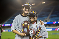 Stanford, CA - December 8, 2019: Emily Chiao, Kiki Pickett at Avaya Stadium. The Stanford Cardinal won their 3rd National Championship, defeating the UNC Tar Heels 5-4 in PKs after the teams drew at 0-0.