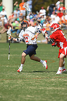 University of Virginia men's lacrosse player George Huguely (11) plays against Cornell March 3, 2009at Klockner Stadium in Charlottesville, VA.  George Huguely, 22, a fourth-year student from Chevy Chase, Md., has been charged with first-degree murder in the death of UVa women's lacrosse player Yeardley Love, 22, a fourth-year student from Cockeysville, Md., that took place early Monday morning May 3, 2010 in Charlottesville, Va. Photo/Andrew Shurtleff