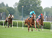 Zodiac Girl and Jose Lezcano win the second race at Saratoga on Aug. 26, 2009 for trainer Chad Brown