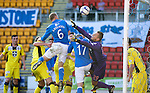 St Johnstone v St Mirren....04.10.14   SPFL<br /> Steven Anderson heads in to make it 1-1<br /> Picture by Graeme Hart.<br /> Copyright Perthshire Picture Agency<br /> Tel: 01738 623350  Mobile: 07990 594431