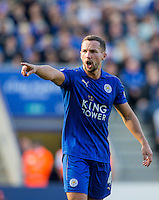 Danny Drinkwater of Leicester City gives instructions during the Premier League match between Leicester City and Southampton at the King Power Stadium, Leicester, England on 2 October 2016. Photo by Andy Rowland.