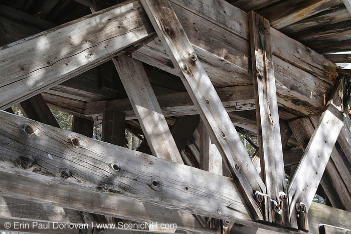 Built in the early 1900s, Trestle No. 16 crosses Black Brook along the old East Branch & Lincoln Railroad (1893-1948) in the Pemigewasset Wilderness of Lincoln, New Hampshire. This photo shows how the trestle looked during the winter month of February in 2011.