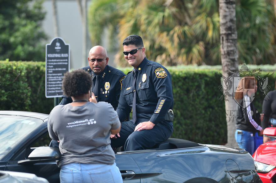 MIRAMAR,  FLORIDA - JANUARY 20: City of Miramar Chief of Police Dexter Williams attends the annual Reverend Dr. Martin Luther King, Jr. Day celebration City Miramar MLK Parades between Sherman Cirrcle and Lakeshore Park on January 20, 2020 in Miramar, Florida.  ( Photo by Johnny Louis / jlnphotography.com )