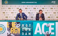 Rotterdam, The Netherlands, 17 Februari 2019, ABNAMRO World Tennis Tournament, Ahoy, Final, press conferencece with tournament director Richard Krajicek (L) and Dimitri Bonthuis<br /> Photo: www.tennisimages.com/Henk Koster