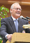Canadian trainer Roger Attfield is inducted into the National Museum of Racing Hall of Fame during a ceremony on August 10, 2012 at Humphrey S. Finney Pavilion in Saratoga Springs, New York.  (Bob Mayberger/Eclipse Sportswire)