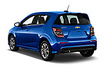 Car pictures of rear three quarter view of a 2020 Chevrolet Sonic LT RS Select Doors Door Hatchback angular rear