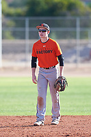 Nicholas Helman (43), from Stewartsville, New Jersey, while playing for the Orioles during the Under Armour Baseball Factory Recruiting Classic at Gene Autry Park on December 30, 2017 in Mesa, Arizona. (Zachary Lucy/Four Seam Images)