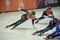SPEEDSKATING: DORDRECHT: 05-03-2021, ISU World Short Track Speedskating Championships, QF 1500m Men, Dylan Hoogerwerf (NED), ©photo Martin de Jong