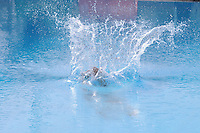 MEDELLIN -COLOMBIA, 08-06-2013. Una competidora en el trampolín de 3 metros durante el Campeonato Sudamericanos de Clavados en Medellín./ A competitor at the 3m springboard during the XXIV South American championship diving in Medellin. Photo: VizzorImage/Luis Rios/STR