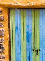 An old door in Ollantaytambo, Peru