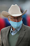 January 23, 2021: Trainer William Fires after the running of the Fifth Season Stakes at Oaklawn Racing Casino Resort in Hot Springs, Arkansas on January 22, 2021. Justin Manning/Eclipse Sportswire/CSM