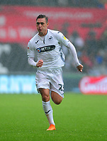 Swansea City's Connor Roberts during the Sky Bet Championship match between Swansea City and Preston North End at the Liberty Stadium, Swansea, Wales, UK. Saturday 11 August 11 2018