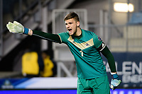 Chester, PA - Friday December 08, 2017: Ben Lundt The Stanford Cardinal defeated the Akron Zips 2-0 during an NCAA Men's College Cup semifinal match at Talen Energy Stadium.