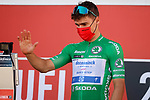 Green Jersey Fabio Jakobsen (NED) Deceuninck Quick-Step at sign on before the start of Stage 12 of La Vuelta d'Espana 2021, running 175km from Jaén to Córdoba, Spain. 26th August 2021.     <br /> Picture: Luis Angel Gomez/Photogomezsport   Cyclefile<br /> <br /> All photos usage must carry mandatory copyright credit (© Cyclefile   Luis Angel Gomez/Photogomezsport)