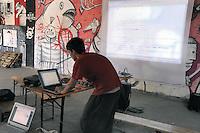 "- Milan, ""hackers"" gathering in a squatted Social Center<br /> <br /> - Milano, raduno di ""hackers""  in un Centro Sociale occupato"