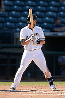 Surprise Saguaros outfielder Mitch Haniger (18), of the Milwaukee Brewers organization, during an Arizona Fall League game against the Salt River Rafters on October 14, 2013 at Surprise Stadium in Surprise, Arizona.  Salt River defeated Surprise 3-2.  (Mike Janes/Four Seam Images)