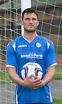 New St Johnstone signing John Sutton pictured wearing the new home strip for the 2015-16 season...<br /> Picture by Graeme Hart.<br /> Copyright Perthshire Picture Agency<br /> Tel: 01738 623350  Mobile: 07990 594431