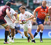 4th July 2021; Twickenham, London, England; International Rugby, Autumn Internationals, England versus United States of America; Harry Randall of England brings the ball forward
