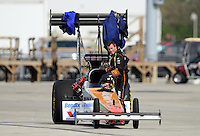 Sept. 30, 2012; Madison, IL, USA: NHRA top fuel dragster driver Clay Millican during the Midwest Nationals at Gateway Motorsports Park. Mandatory Credit: Mark J. Rebilas-