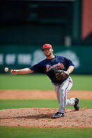 Atlanta Braves pitcher Cutter Dyals (83) delivers a pitch during a Florida Instructional League game against the Canadian Junior National Team on October 9, 2018 at the ESPN Wide World of Sports Complex in Orlando, Florida.  (Mike Janes/Four Seam Images)